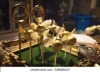 Cake in a shape of the famous quidditch game.