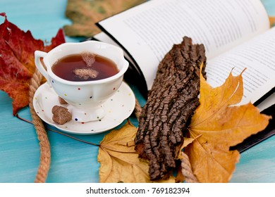 Cake Shu, fragrant tea . The atmosphere of coziness