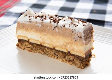 Cake slice - Home made Kinder Cake