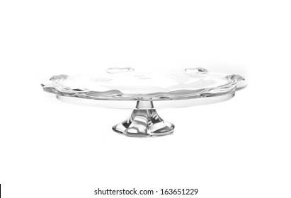 Cake stand isolated on white background. Copy space.