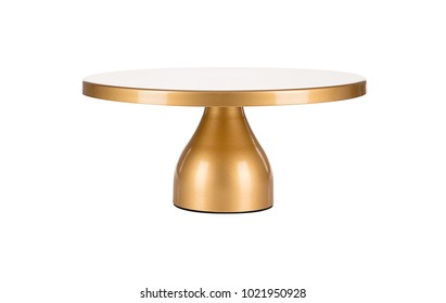 Cake Stand,Luxury Golden Cake Stand On White Background