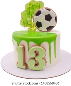 Pleasing Birthday Cake Soccer Images Stock Photos Vectors Shutterstock Personalised Birthday Cards Paralily Jamesorg