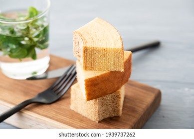 The cake which expressed the annual ring of the tree: Baumkuchen - Shutterstock ID 1939737262