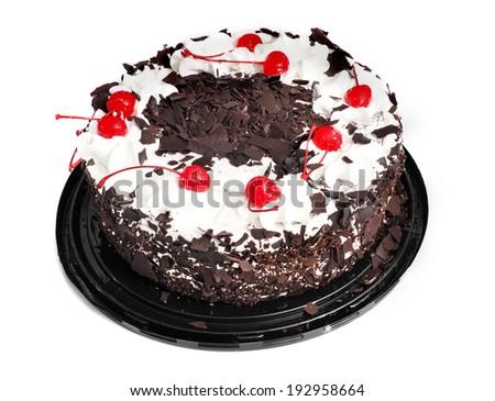 Cake Whole Round Black Forest Isolated Stock Photo Edit Now