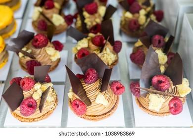"""Cakes at Chocolate Exhibition, """"Salon du Chocolat"""", Bruxelles, Belgium"""