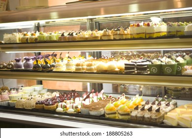 Cakes in Showcase