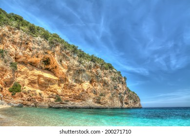 Cala Biriola on a clear day, Sardinia