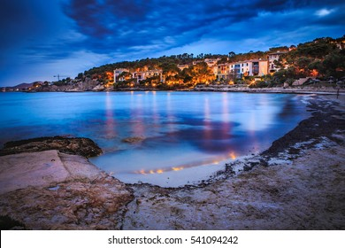 Cala Comtesa at Illetes on Mallorca Island, the Balearic Islands, Spain