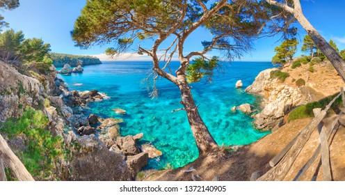 Cala Deia Mallorca Majorca Baleares Spain Mediterranean Sea