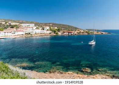 Cala d'Oliva, small town in the Asinara island (Sardinia, Italy)