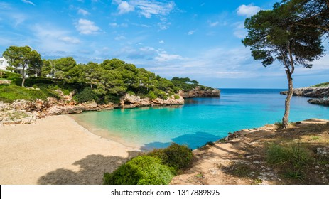 Cala Dor bay at Cala d'Or city, Palma Mallorca Island, Spain