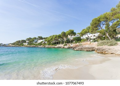 Cala d'Or, Mallorca, Spain - Smoothe breakers at the beach of Cala d'Or