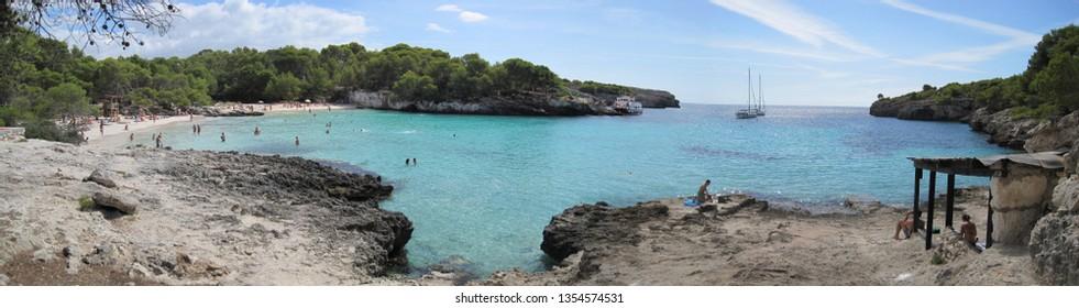 Cala En Turqueta, Menorca Island, Spain. En Turqueta cove.