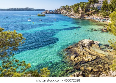 Cala Fornells Bay in Majorca, Balearic Islands, Spain, Europe