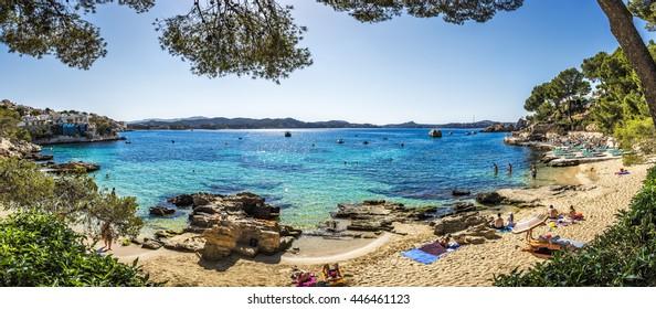 Cala Fornells beach in Majorca, Balearic Islands, Spain, Europe