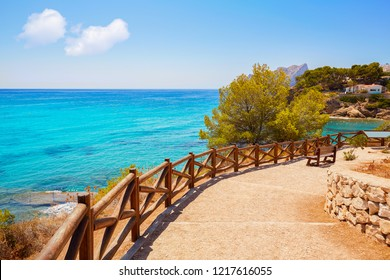 Cala Fustera beach in Benissa also Benisa of Alicante at Spain