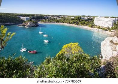Cala Galdana - one of the most popular beaches at Menorca, Spain