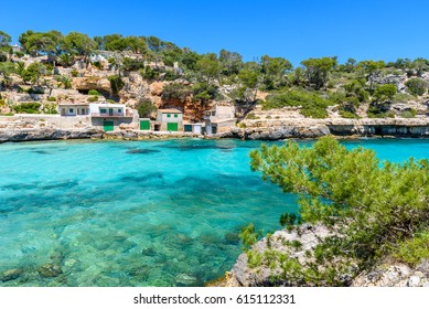 Cala Llombards - beautiful beach in bay of island Mallorca, Spain