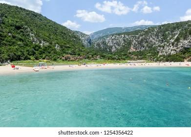 Cala Luna beach in Orosei bay on Sardinia, Italy.