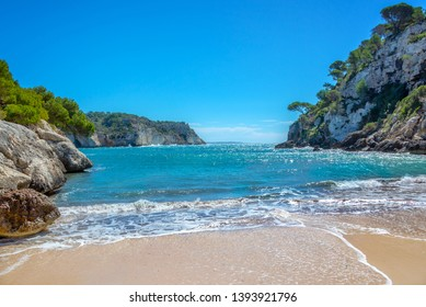 Cala Macarella beach in Menorca, Balearic islands, Spain