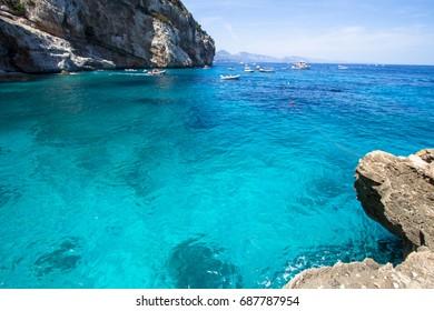 Cala Mariolu, a beach in the 'Golfo di Orosei', Sardinia, Italy.