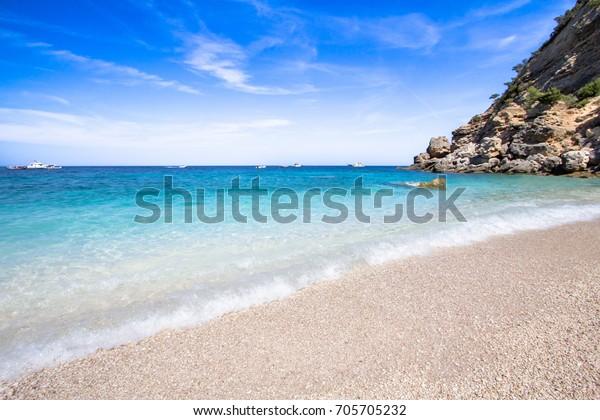 Cala Mariolu, a beach in the 'Golfo di Orosei', Sardinia, Italy