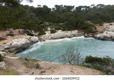 Cala Mitjana in Menorca, Balearic islands, Spain