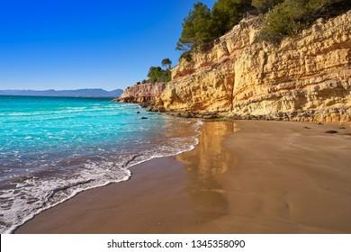 Cala Penya Tallada Salou beach in Tarragona of Catalonia