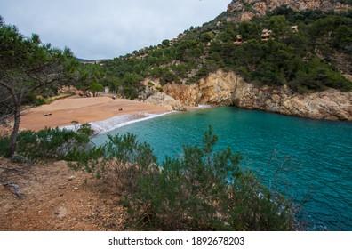 Cala Pola cove in Costa Brava near Tossa de Mar, Catalonia - Shutterstock ID 1892678203