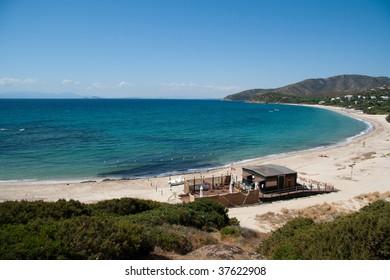 Cala Serena beach in south sardinia