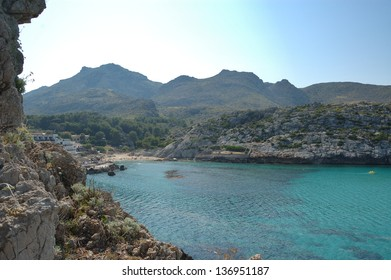 Cala St Vincente, Mallorca. a popular tourist destination
