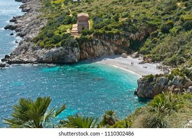 Cala Tonnarella dell'Uzzo in the Oasi dello Zingaro natural reserve, San Vito Lo Capo, Sicily