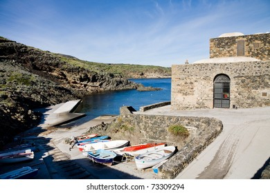 The Cala Tramontana, a little bay on the island of Pantelleria in the mediterranean, Italy
