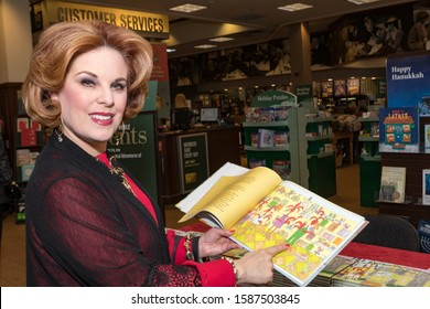 "CALABASAS, CALIFORNIA, USA - DECEMBER 7, 2019: ""The Wondrously Magical Adventures of Penelope and Rosco"" book signing by the authors and illustrator at Barnes and Noble bookstore."