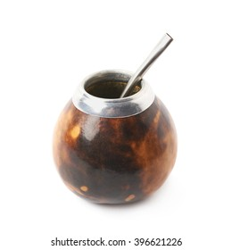 Calabash mate gourd isolated