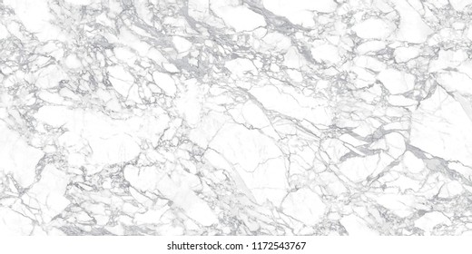 Calacatta Marble Texture made of a mix between a pure White and Grey hues. White stone background.