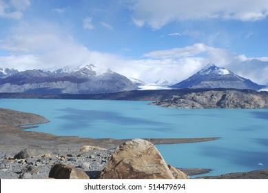 Calafate Lake Argentino, near Estancia Cristina, Patagonia, Argentina.