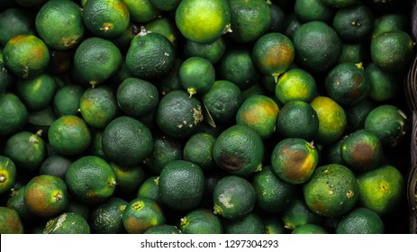 Calamansi Lime. Suitable for marketing calamansi lime related products or as a background texture.
