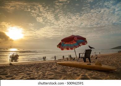 Calangute Beach, Goa at sunset