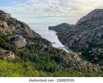 Calanque de Morgiou bay, Marseille, France.