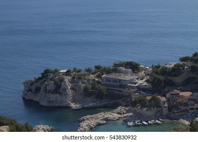Calanque de Niolon seen from the hill