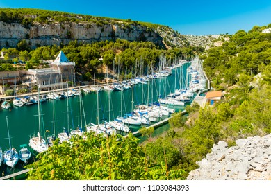 Calanque de Port Miou - fjord near Cassis Village in Provence in France