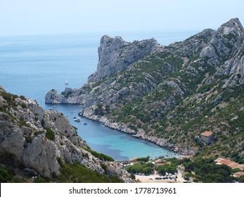 Calanque d'en-Vau in Marseille, France