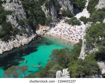 Calanque d'En-Vau is one of the most beautiful calangue in Calanques National Park which is located in southern France.