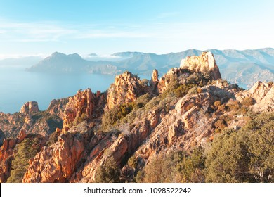 The Calanques de Piana in Corsica, France