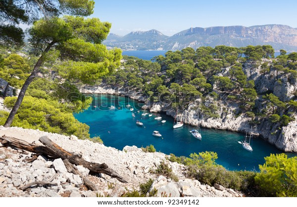 Calanques Port Pin Cassis France Stock Photo Edit Now 92349142
