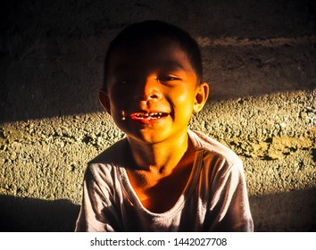 Calapan City. Oriental Mindoro/Philippines-July  04,2019: a child's positive vibe at golden hour