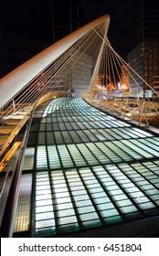 Calatrava's bridge in Bilbao, Spain