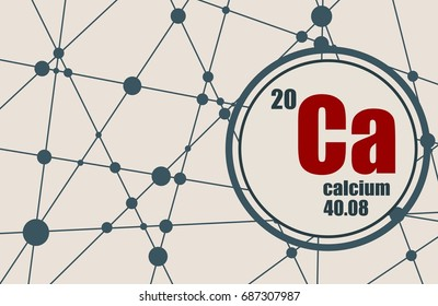calcium chemical element sign with atomic number and atomic weight chemical element of periodic - Lanthanum Periodic Table Atomic Mass