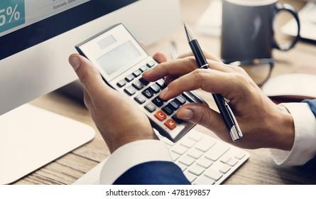 Calculate Balance Financial Accounting profit Debt Concept